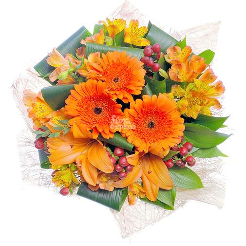 Оранжевое солнце - изображение букета 2