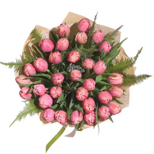 Розовые тюльпаны - изображение букета 2