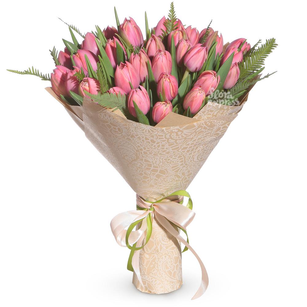 Букет «Flora Express», Розовые тюльпаны