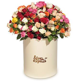 Букет Счастье: Микс кустовых роз